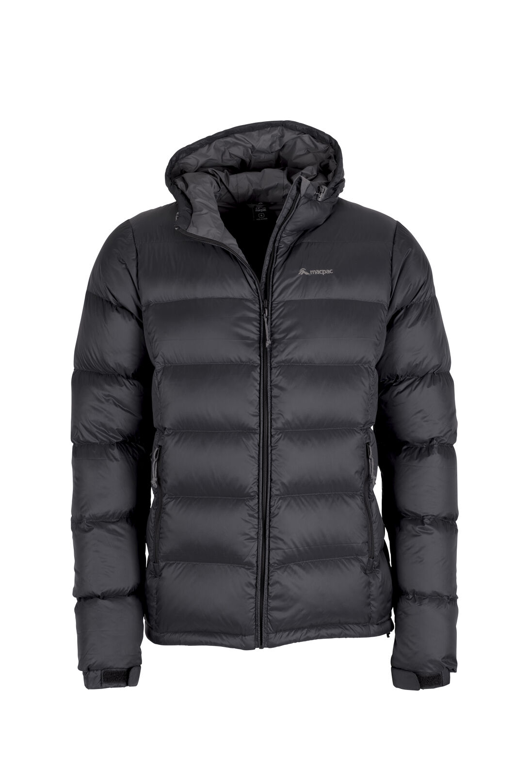 Macpac Halo Hooded Down Jacket - Men's, Black, hi-res