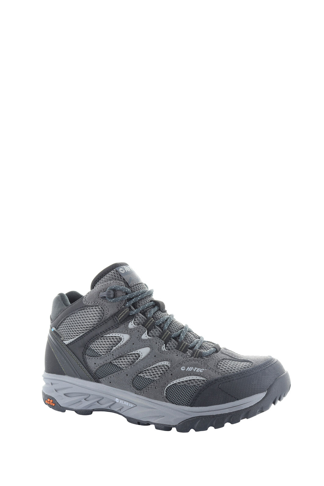 Hi-Tec Wild-Fire Mid I WP - Men's, Charcoal/Black/Olive Night, hi-res