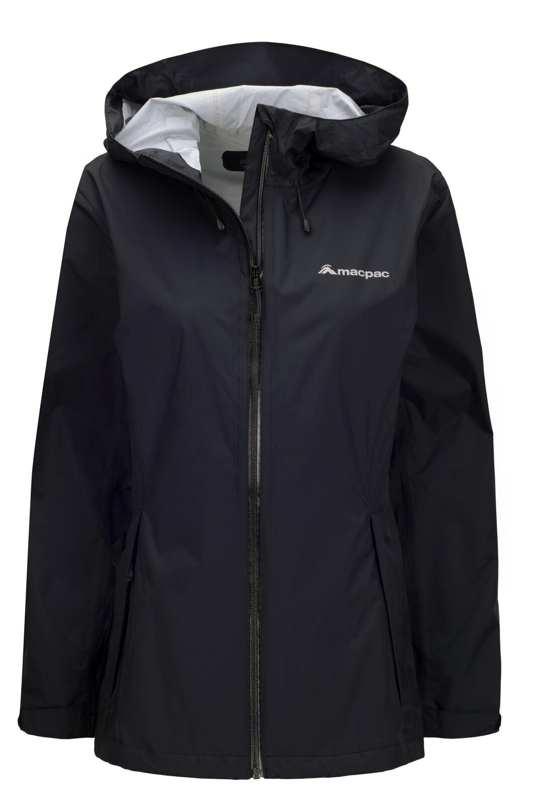 Macpac Women's Mistral Rain Jacket, Black, hi-res
