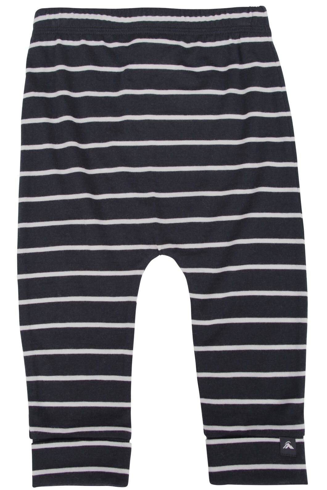 Macpac 150 Merino Long Johns - Baby, Black/White Stripe, hi-res