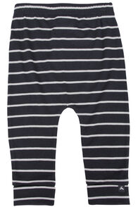 150 Merino Long Johns - Baby, Black/White Stripe, hi-res