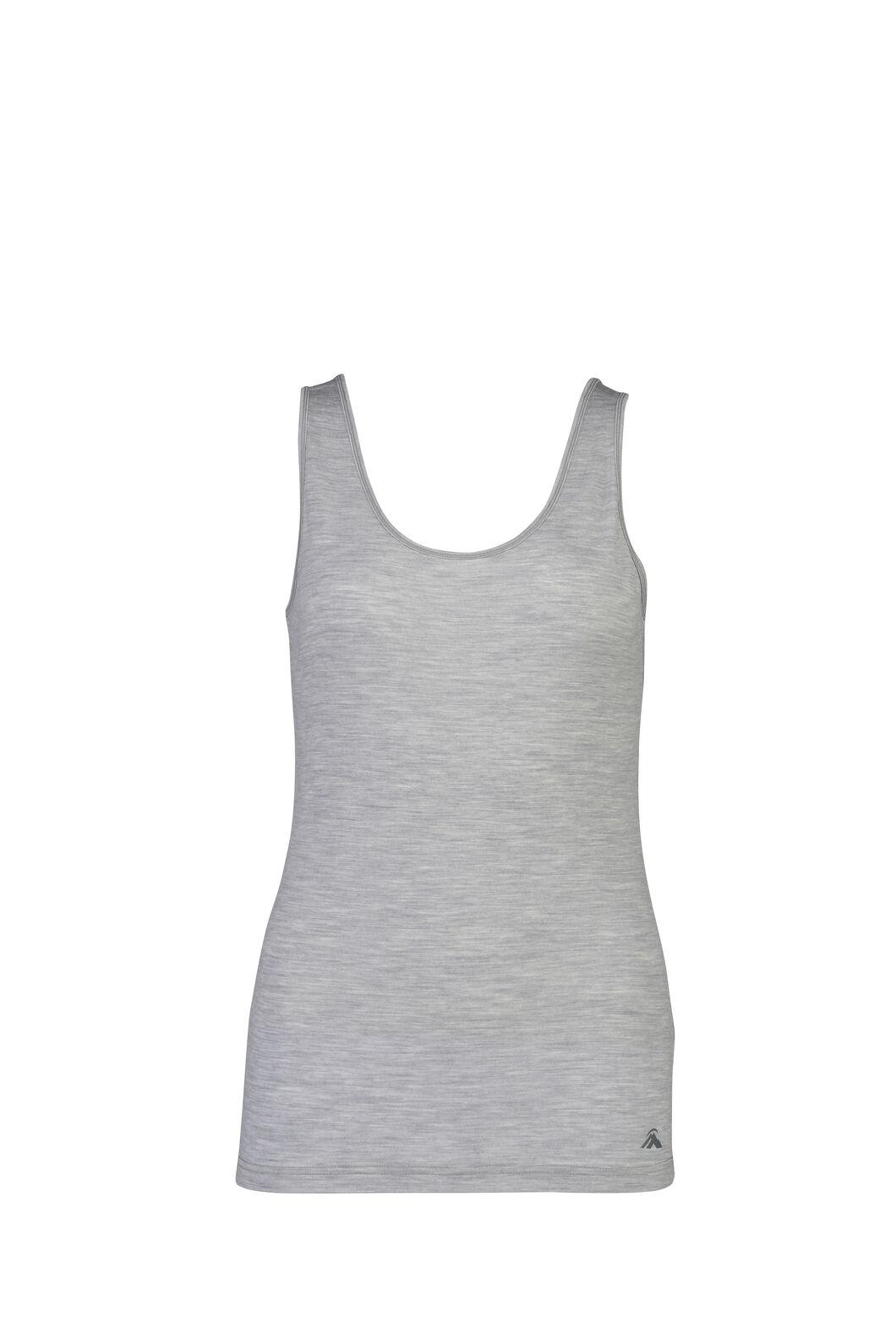 Macpac Women's 150 Merino Singlet, Light Grey Marle, hi-res