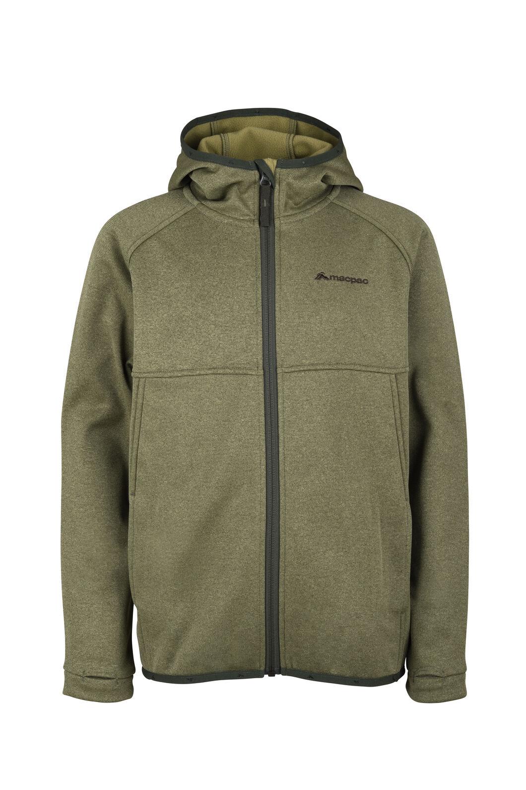 Macpac Kiwi Fleece Jacket - Kids', Loden Green, hi-res