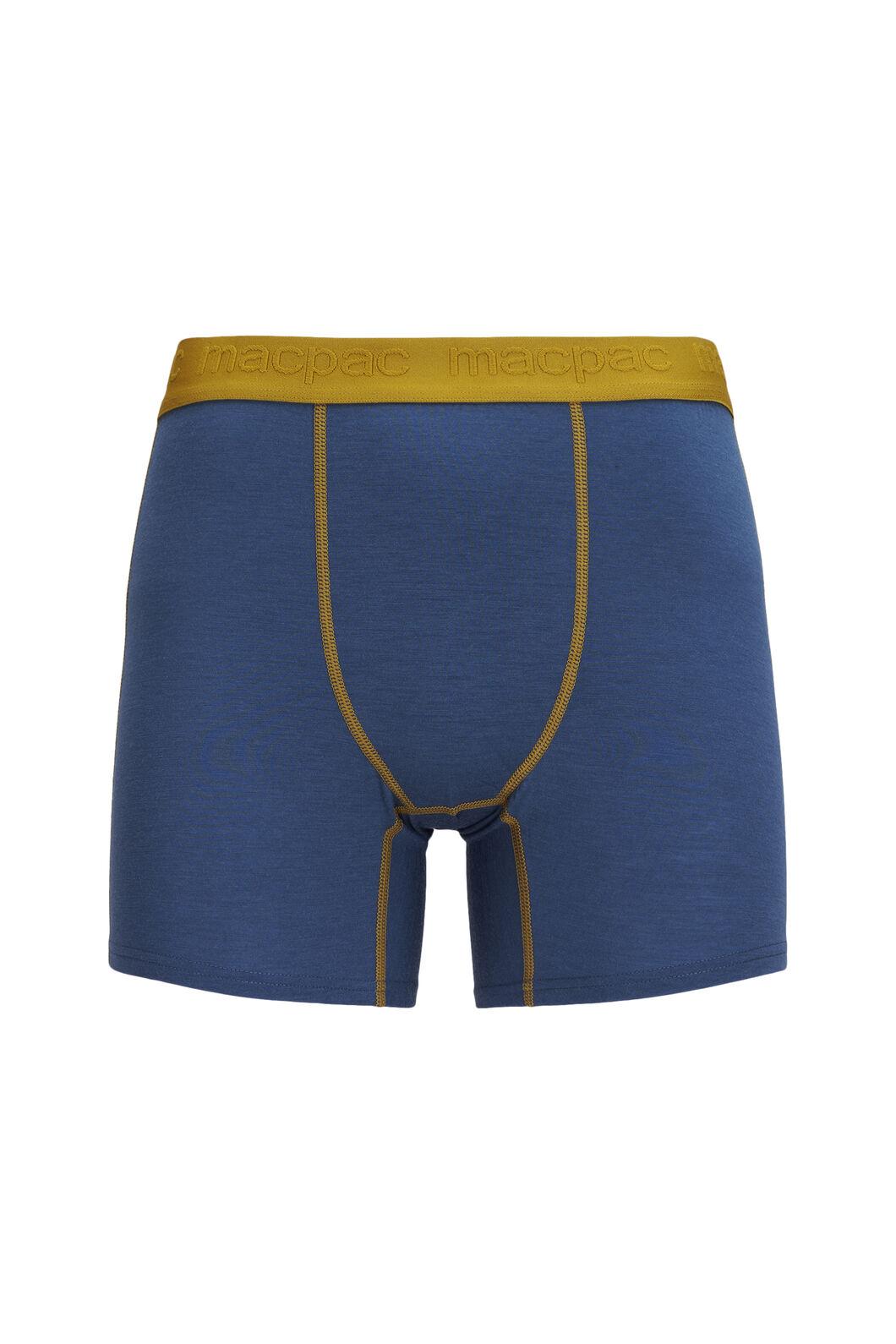 Macpac 180 Merino Boxers — Men's, Orion Blue/Dried Tussock, hi-res