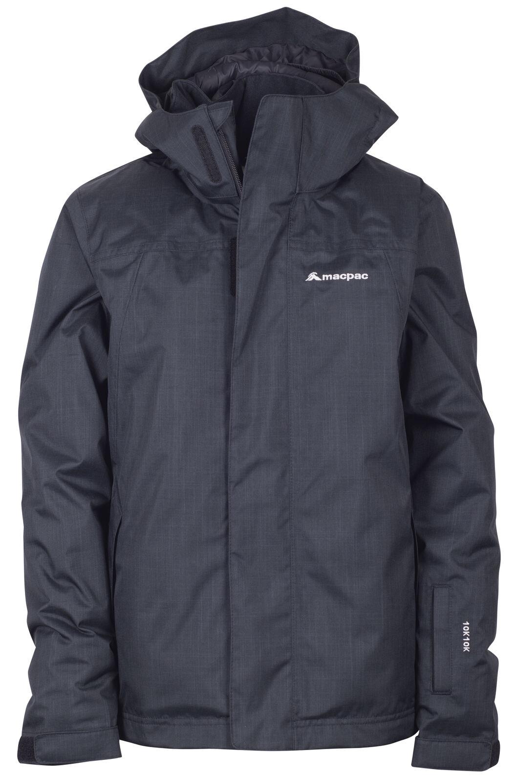 Macpac Spree Reflex™ Ski Jacket — Kids', Black, hi-res