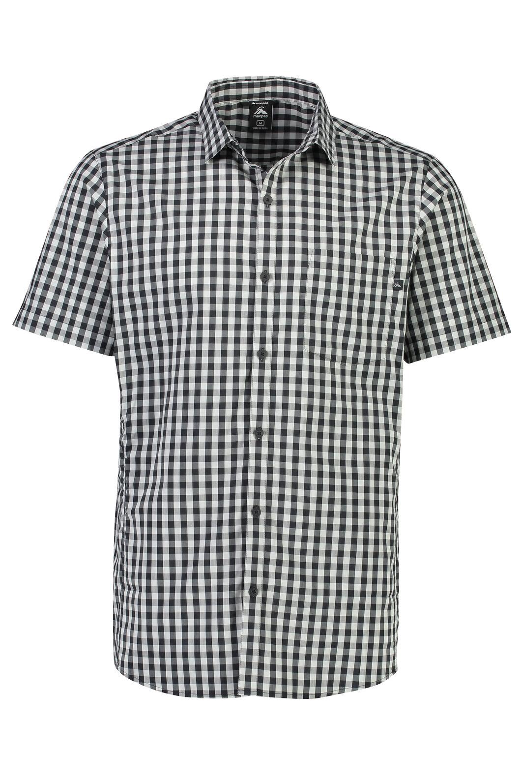 Macpac Crossroad Short Sleeve Shirt - Men's, Anthracite, hi-res