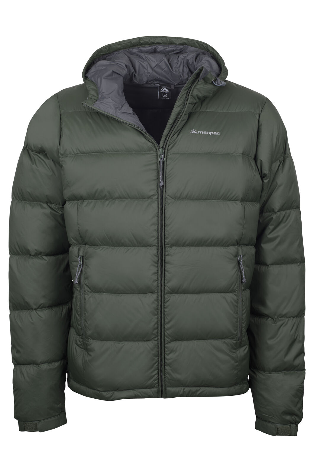 Macpac Halo Hooded Down Jacket — Men's, Kombu Green, hi-res