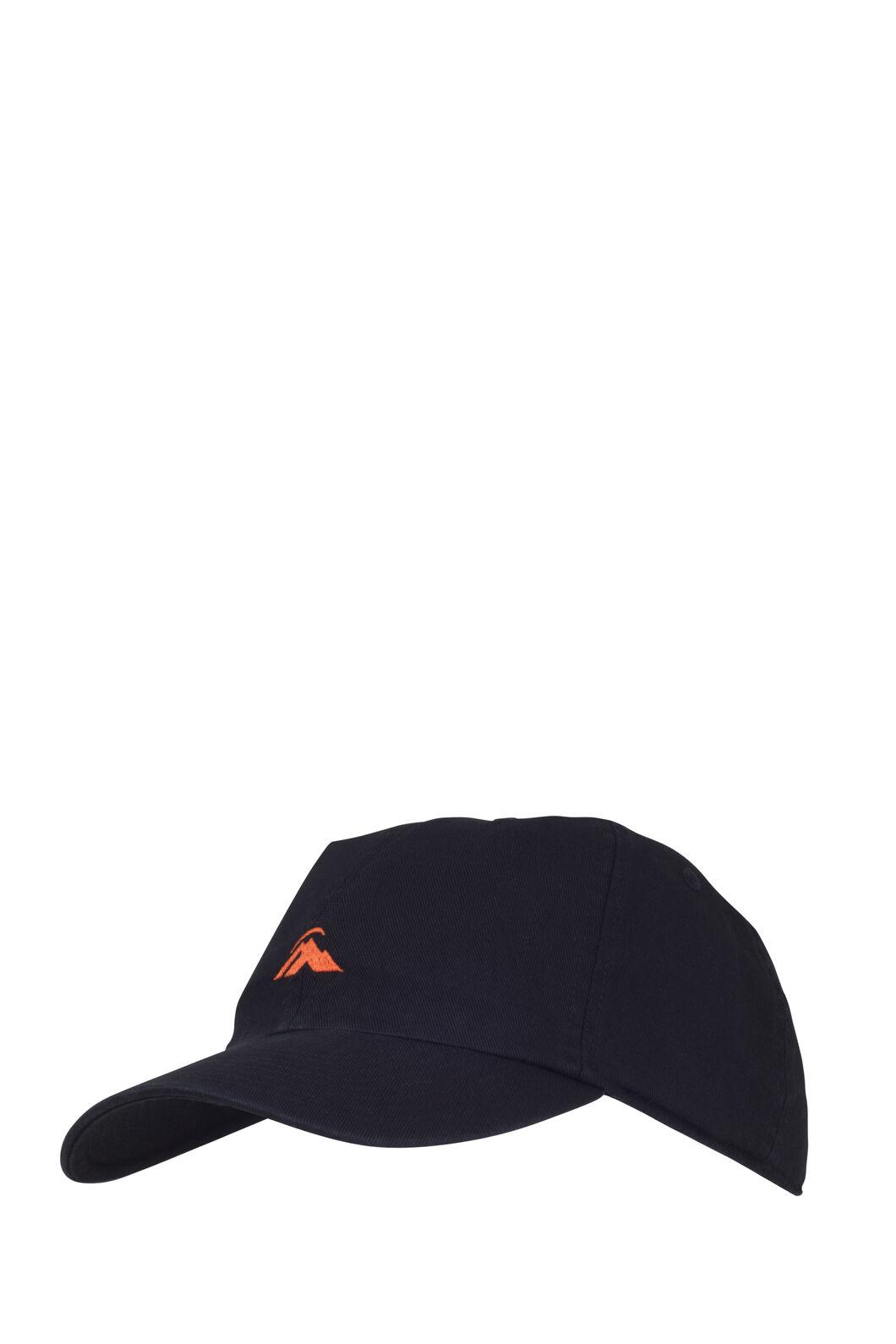 Macpac Vintage Cap, Black/Spicy Orange, hi-res