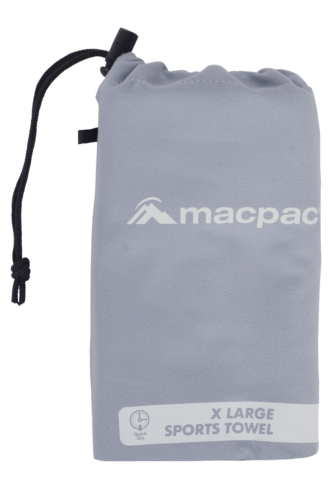 Macpac Sports Towel XL, Charcoal, hi-res