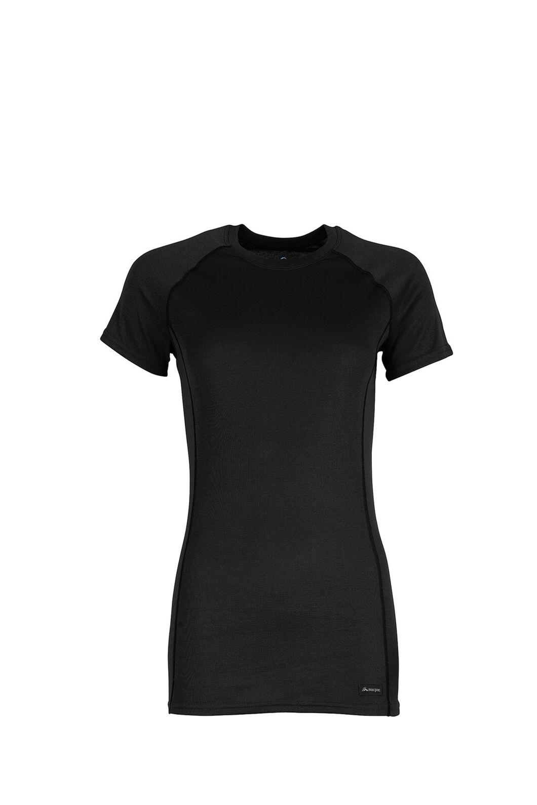 Macpac Geothermal Short Sleeve Top — Women's, Black, hi-res