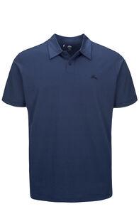 Macpac Eyre Short Sleeve Polo — Men's, Blueprint, hi-res