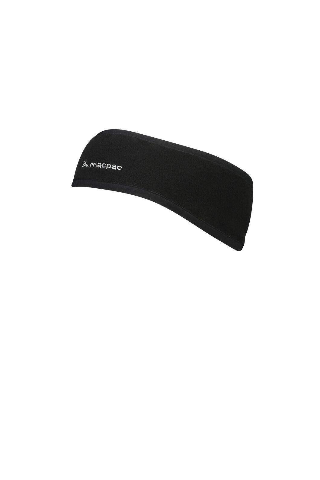 Tieke Fleece Headband V2, Black, hi-res