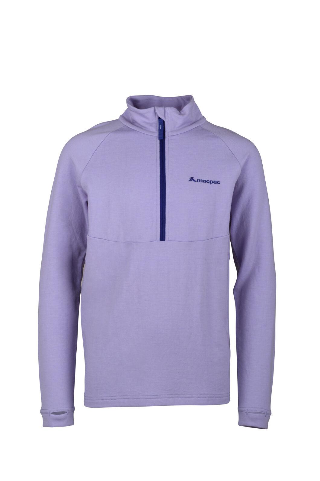 Macpac Merino 280 Pullover - Kids', Sweet Lavender, hi-res