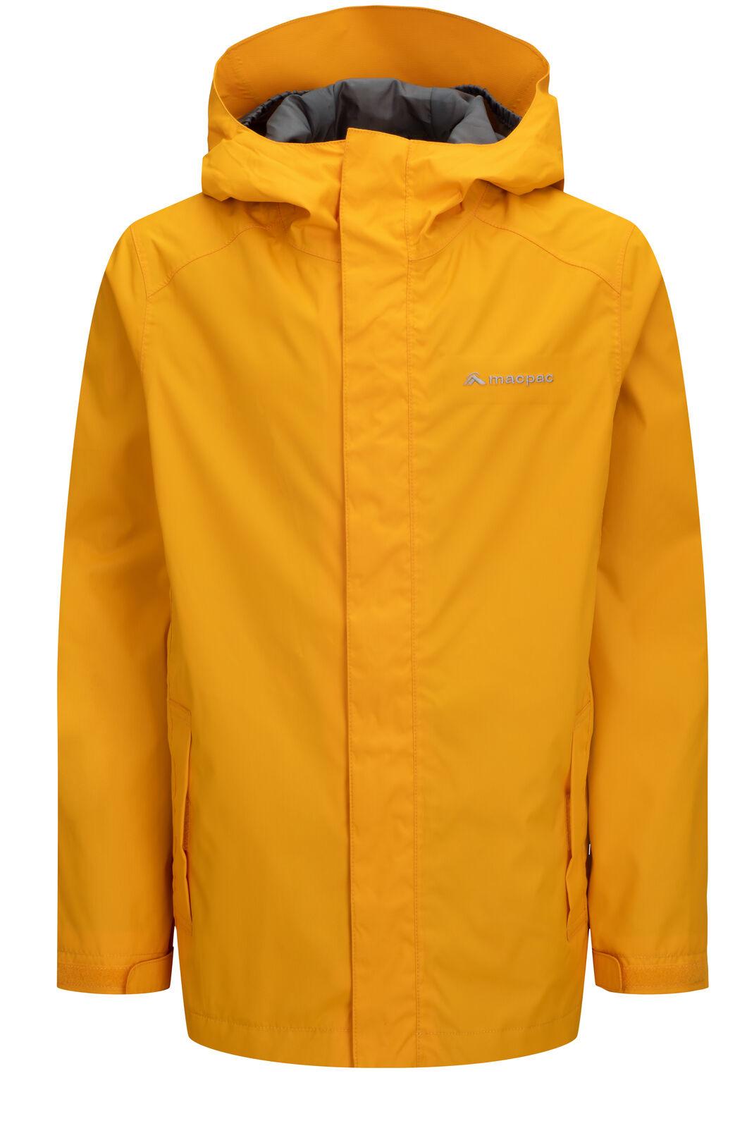 Macpac Jetstream Rain Jacket — Kids', Cadmium Yellow, hi-res