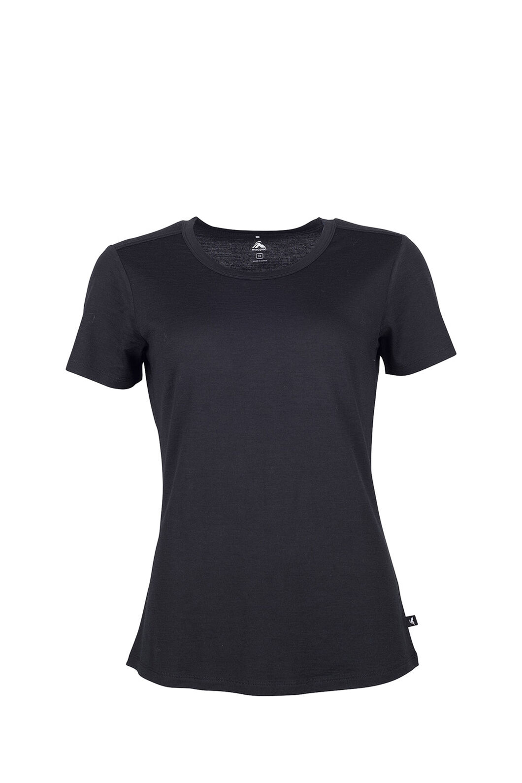 Macpac Lyellette 180 Merino Tee — Women's, Black, hi-res