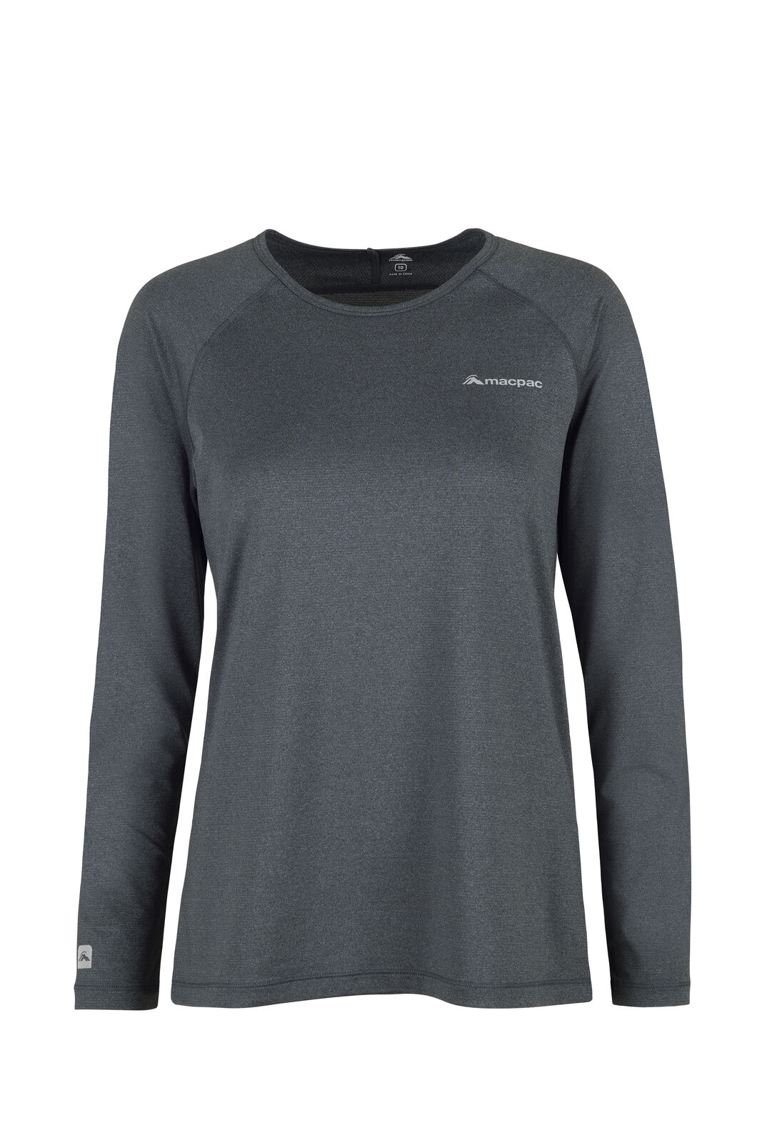 Macpac Eyre Long Sleeve Tee - Women's, Black, hi-res