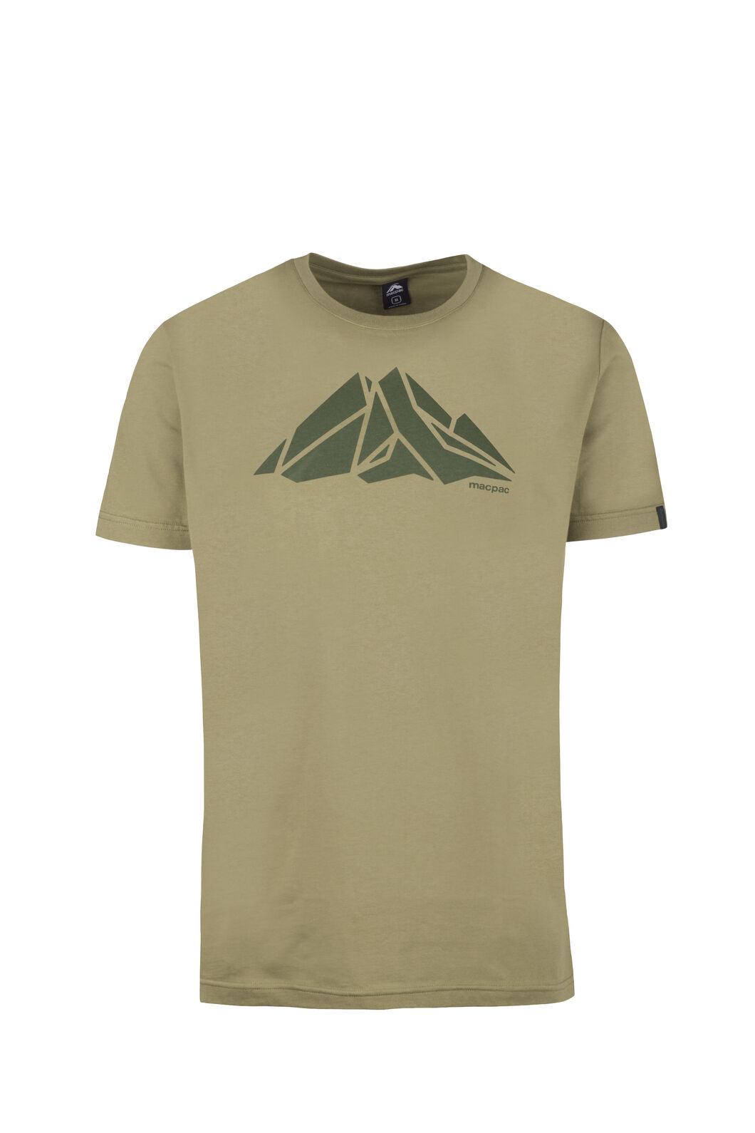 Macpac Screen Print Organic Cotton Tee - Men's, Loden Green, hi-res