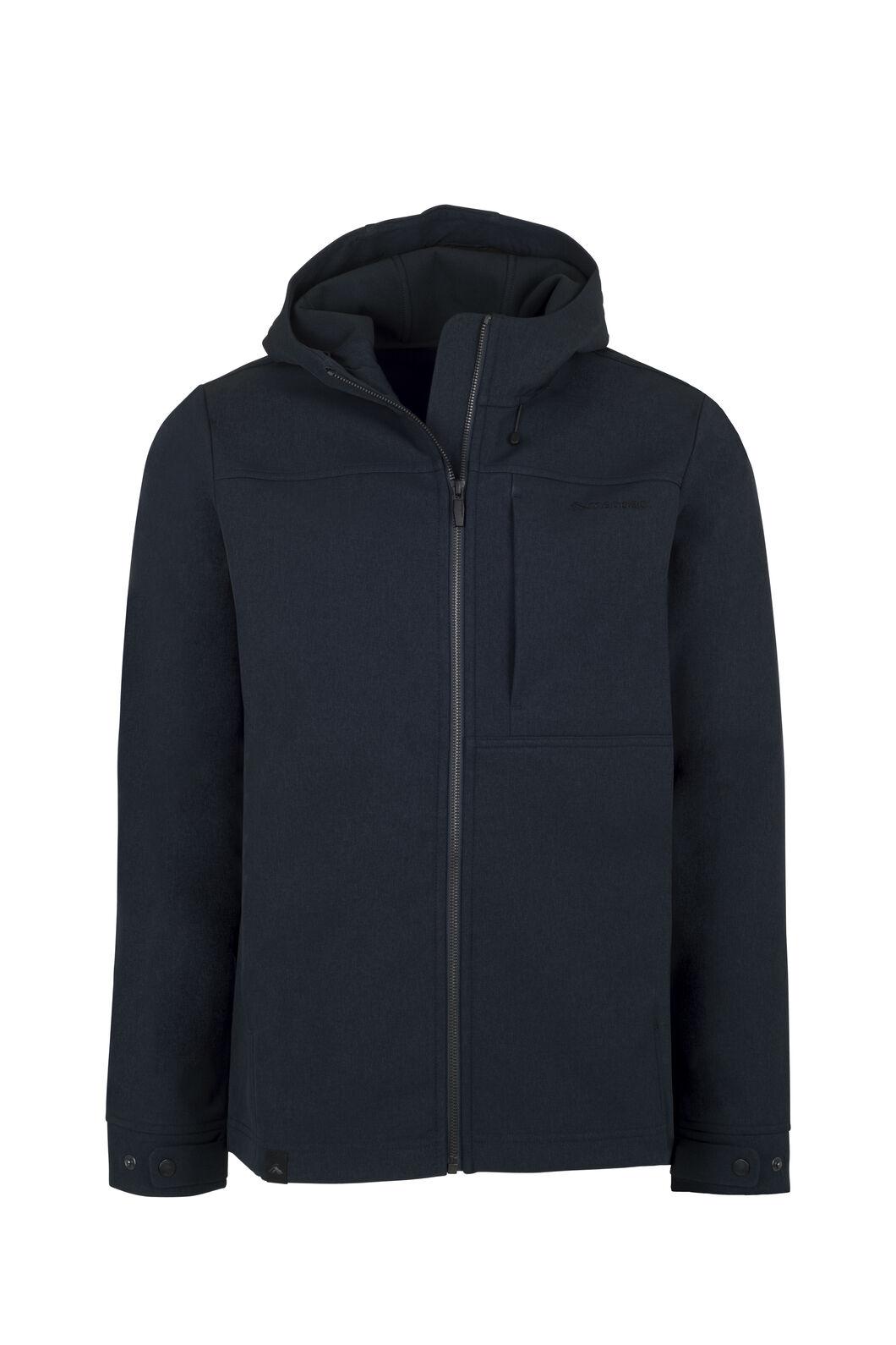 Macpac Chord Hooded Softshell Jacket - Men's, Carbon, hi-res
