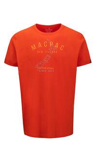 Macpac Men's Outdoor Apparel Fairtrade Organic Cotton Tee, Pureed Pumpkin, hi-res