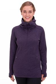 Macpac Glacier 280 Merino Blend Hooded Pullover — Women's, Nightshade Marle, hi-res