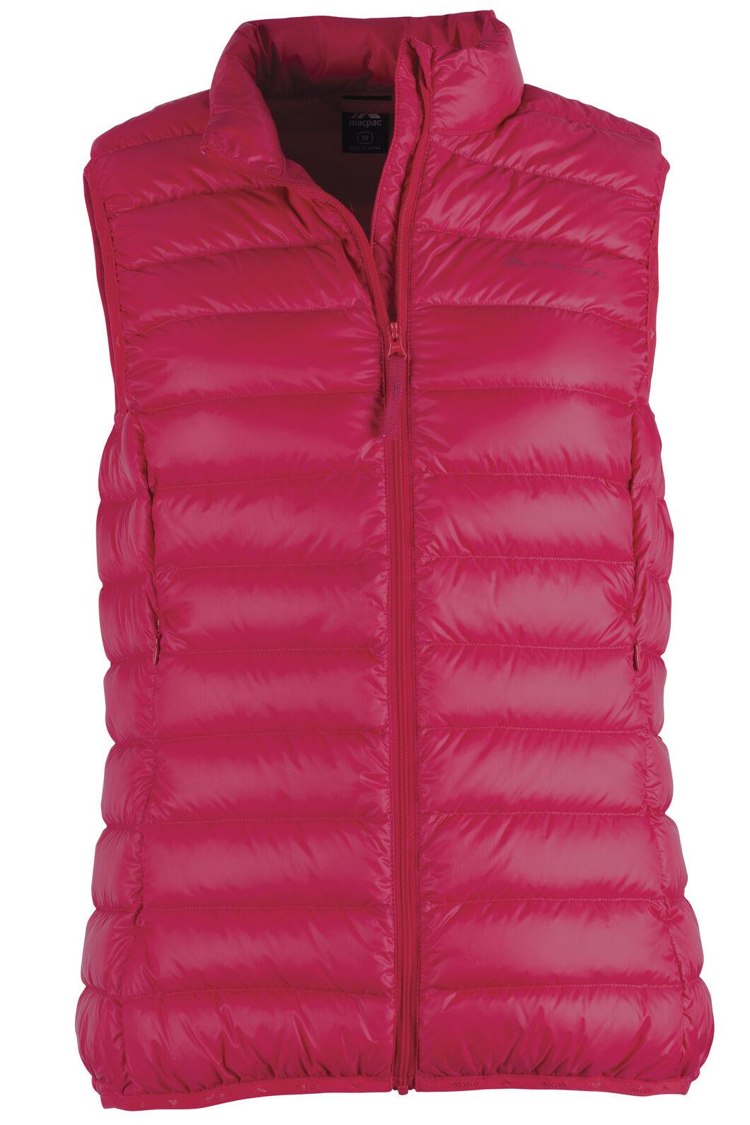 Macpac Uber Light Down Vest - Women's, Crimson, hi-res