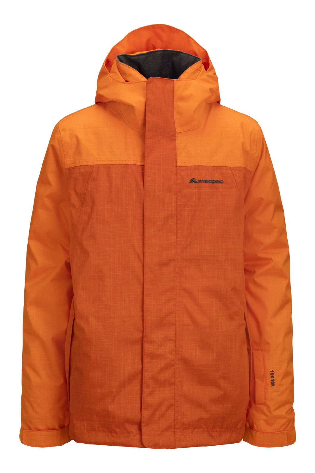 Macpac Kids' Spree Reflex™ Ski Jacket, Russet Orange/Orange Flame, hi-res
