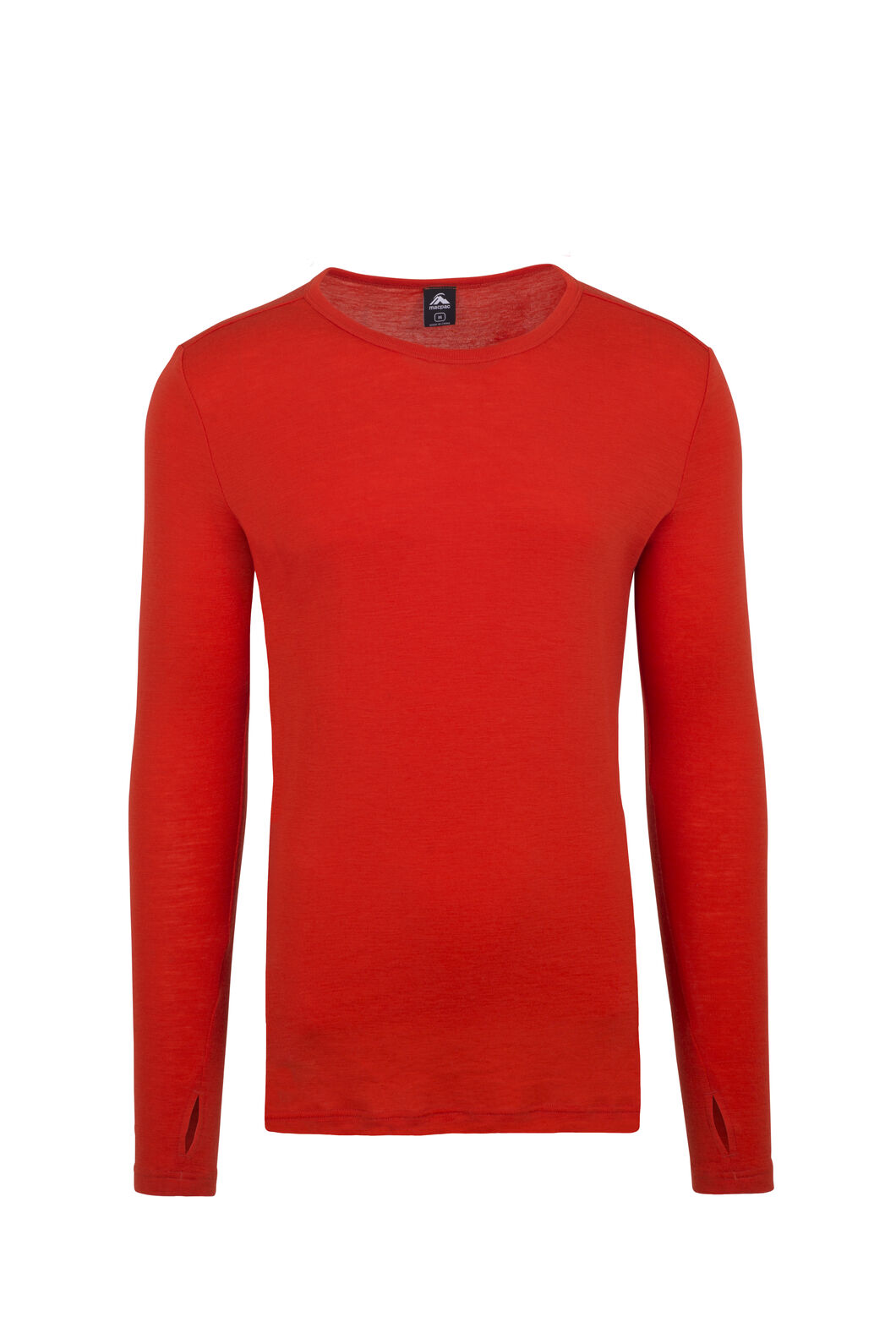 Macpac 220 Merino Long Sleeve Top - Men's, Spicy Orange, hi-res