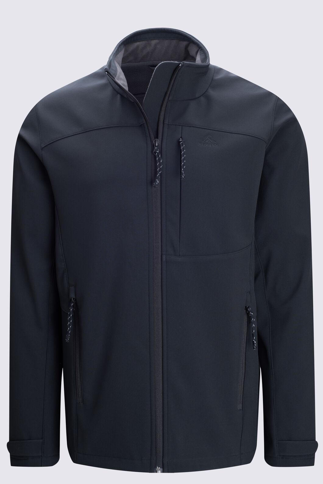 Macpac Men's Sabre Softshell Jacket, Black, hi-res