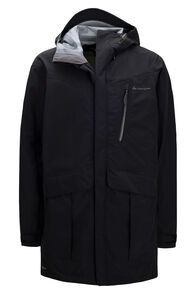 Macpac Men's Copland Pertex® Long Rain Jacket, Black, hi-res