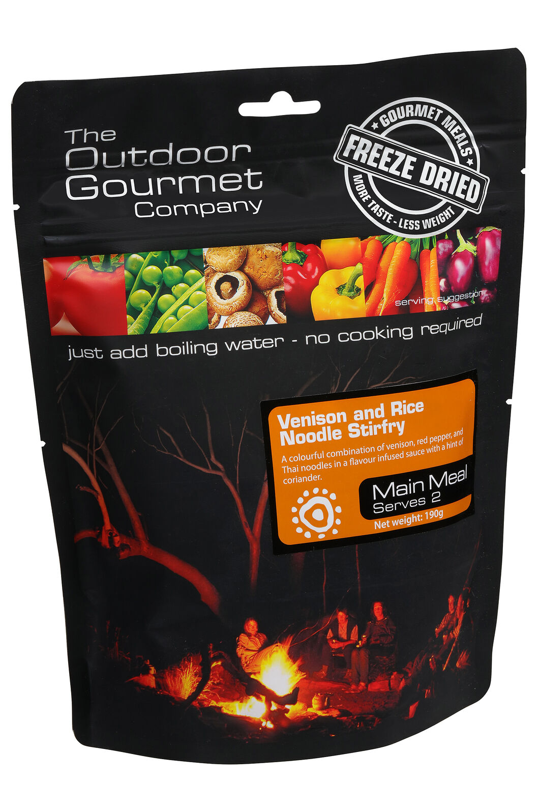 Outdoor Gourmet Venison & Rice Noodle Stirfry, None, hi-res