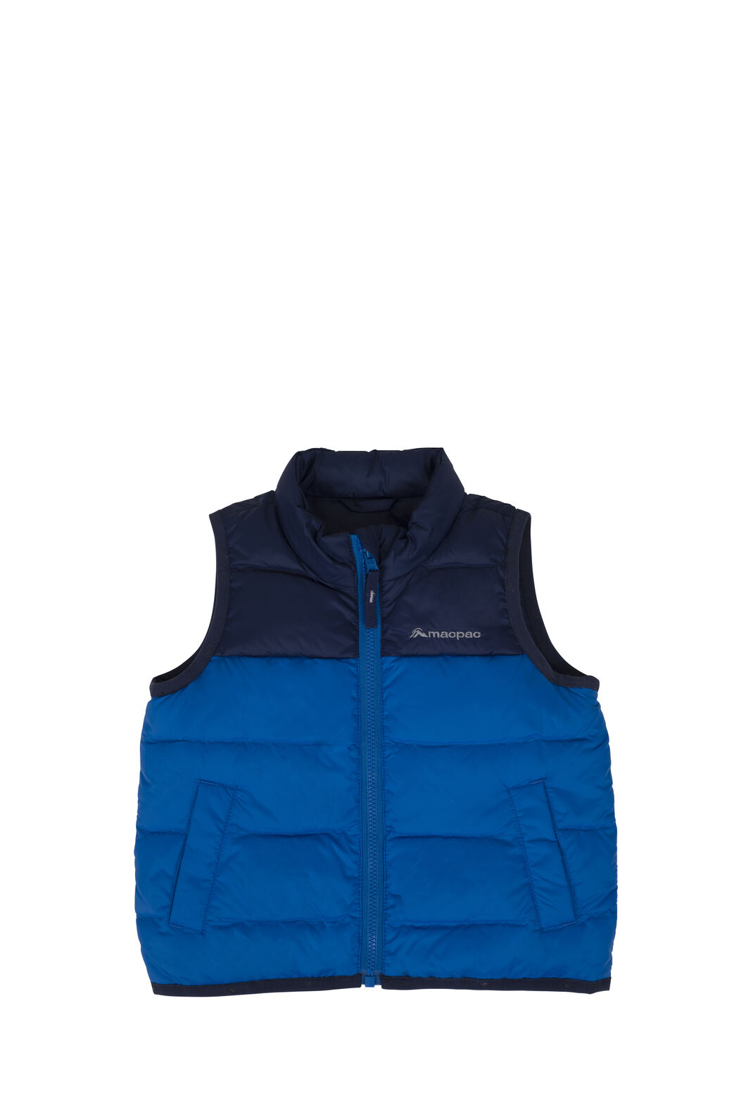 Macpac Atom Down Vest - Baby, Black Iris/Snorkel, hi-res