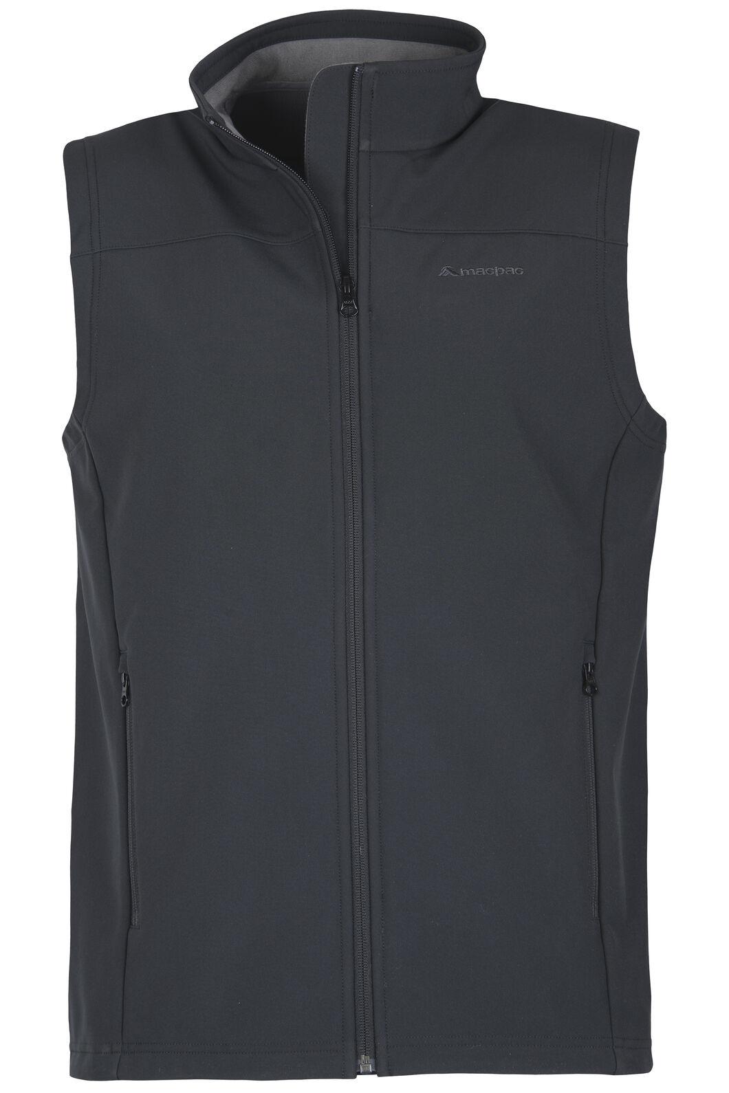 Sabre Softshell Vest - Men's, Black, hi-res