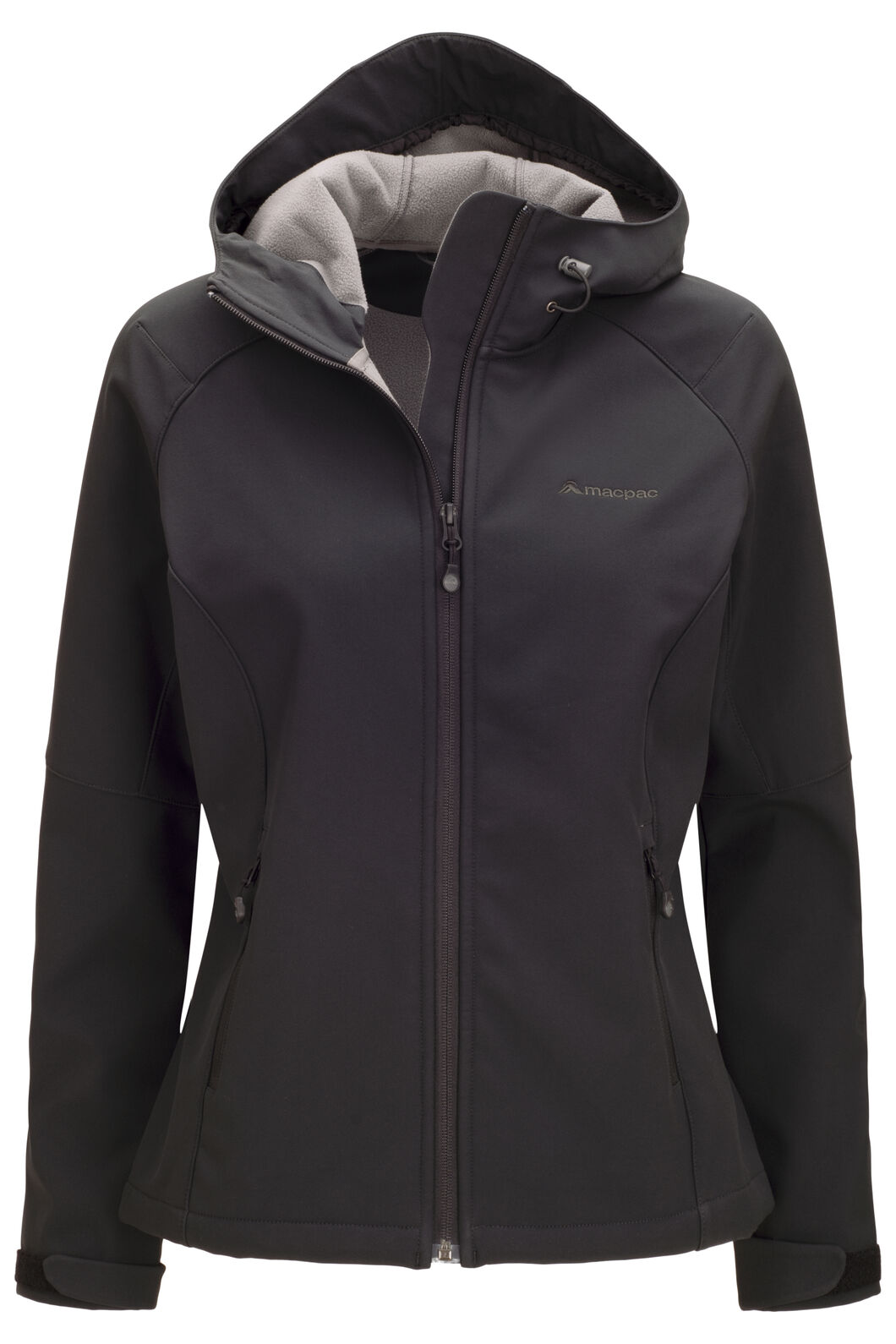 Macpac Women's Sabre Hooded Softshell Jacket, Black, hi-res