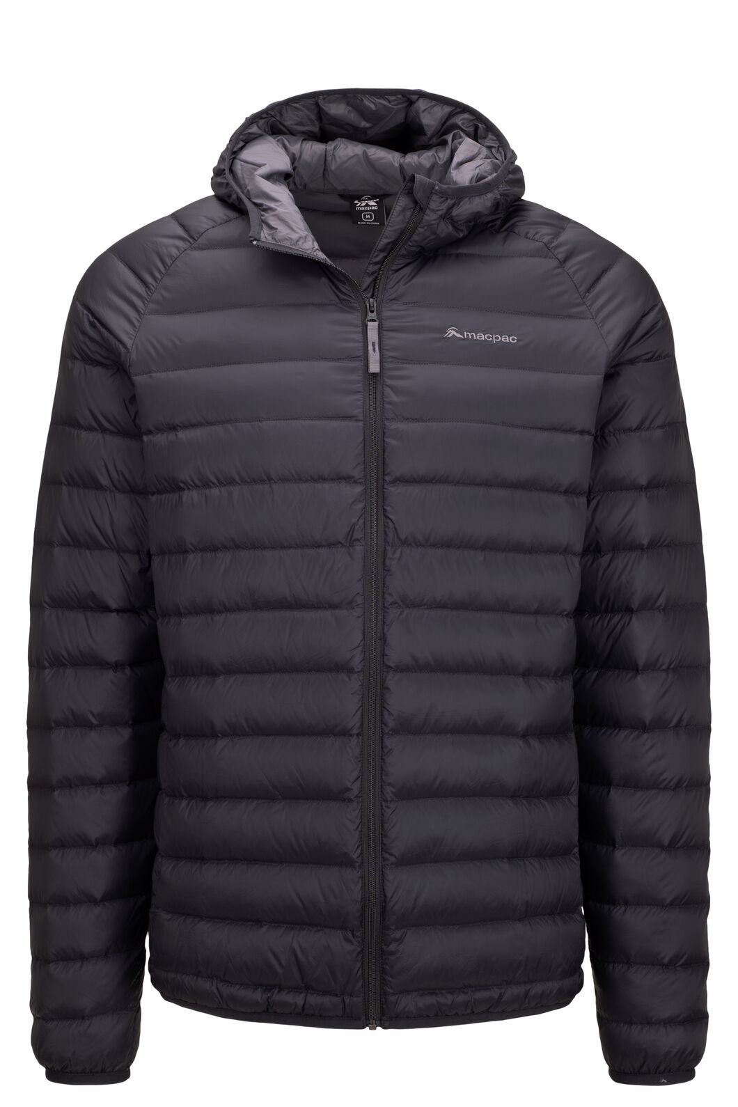 Macpac Uber Hooded Down Jacket — Men's, Black, hi-res