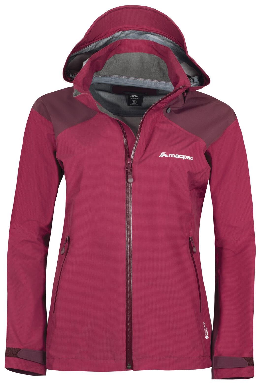 Macpac Traverse Pertex Shield® Rain Jacket - Women's, Rumba Red/Windsor Wine, hi-res