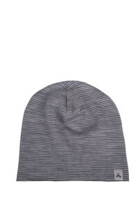 Macpac 150 Merino Beanie — Baby, Light Grey Stripe, hi-res