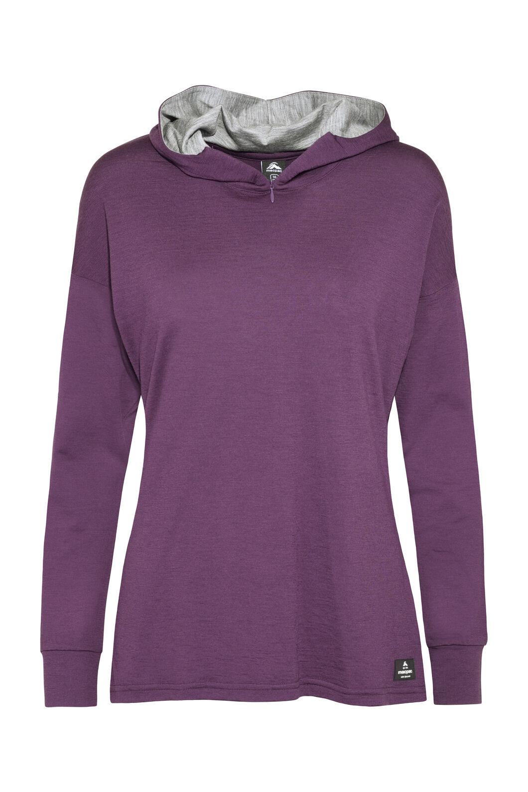 Macpac Tori 180 Hooded Pullover — Women's, Blackberry Wine, hi-res