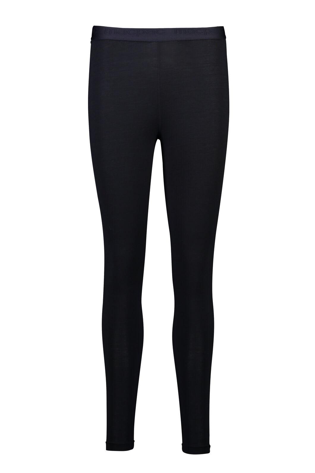 Macpac 180 Merino Long Johns — Women's, Black, hi-res
