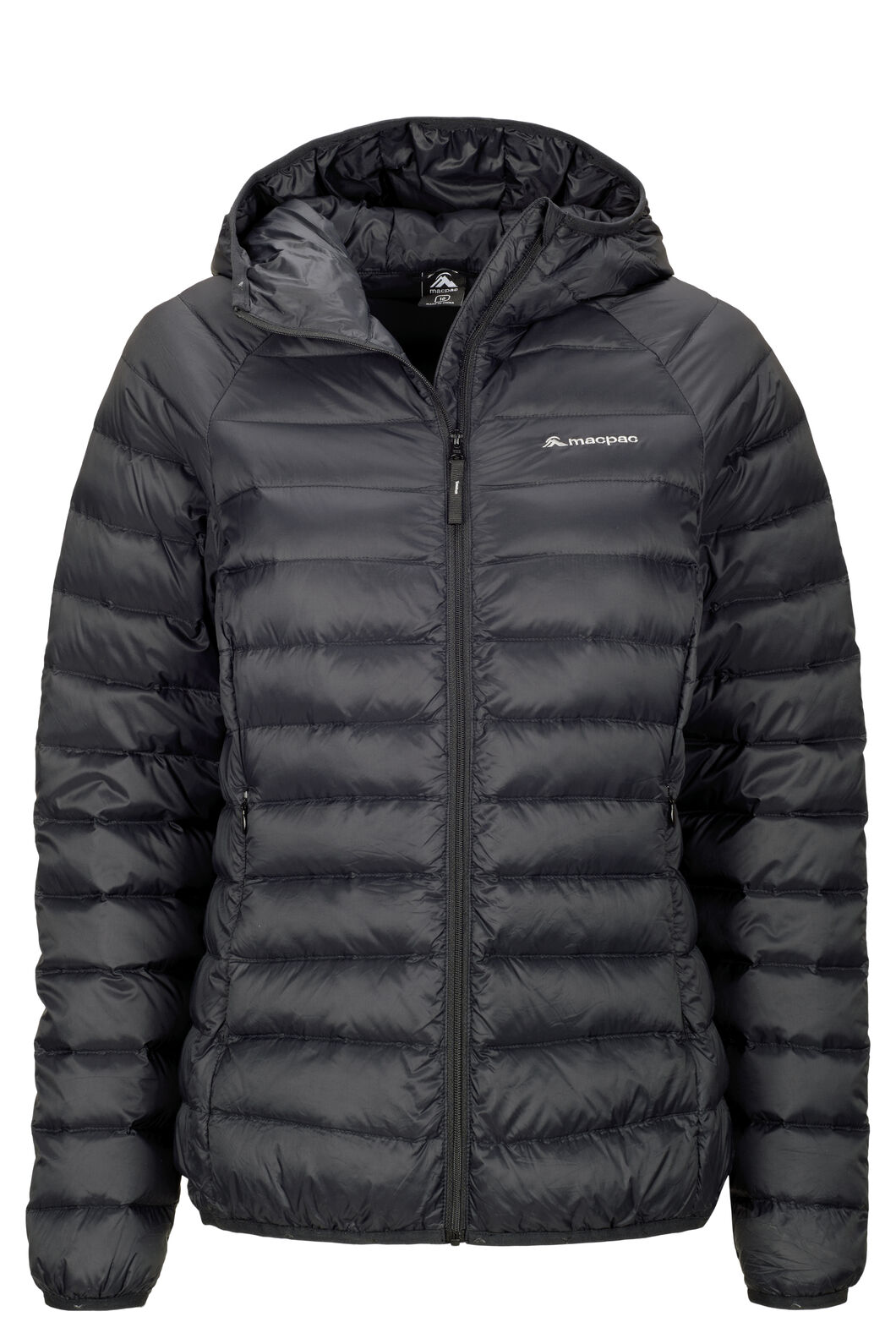 Macpac Uber Light Hooded Down Jacket — Women's, Black, hi-res