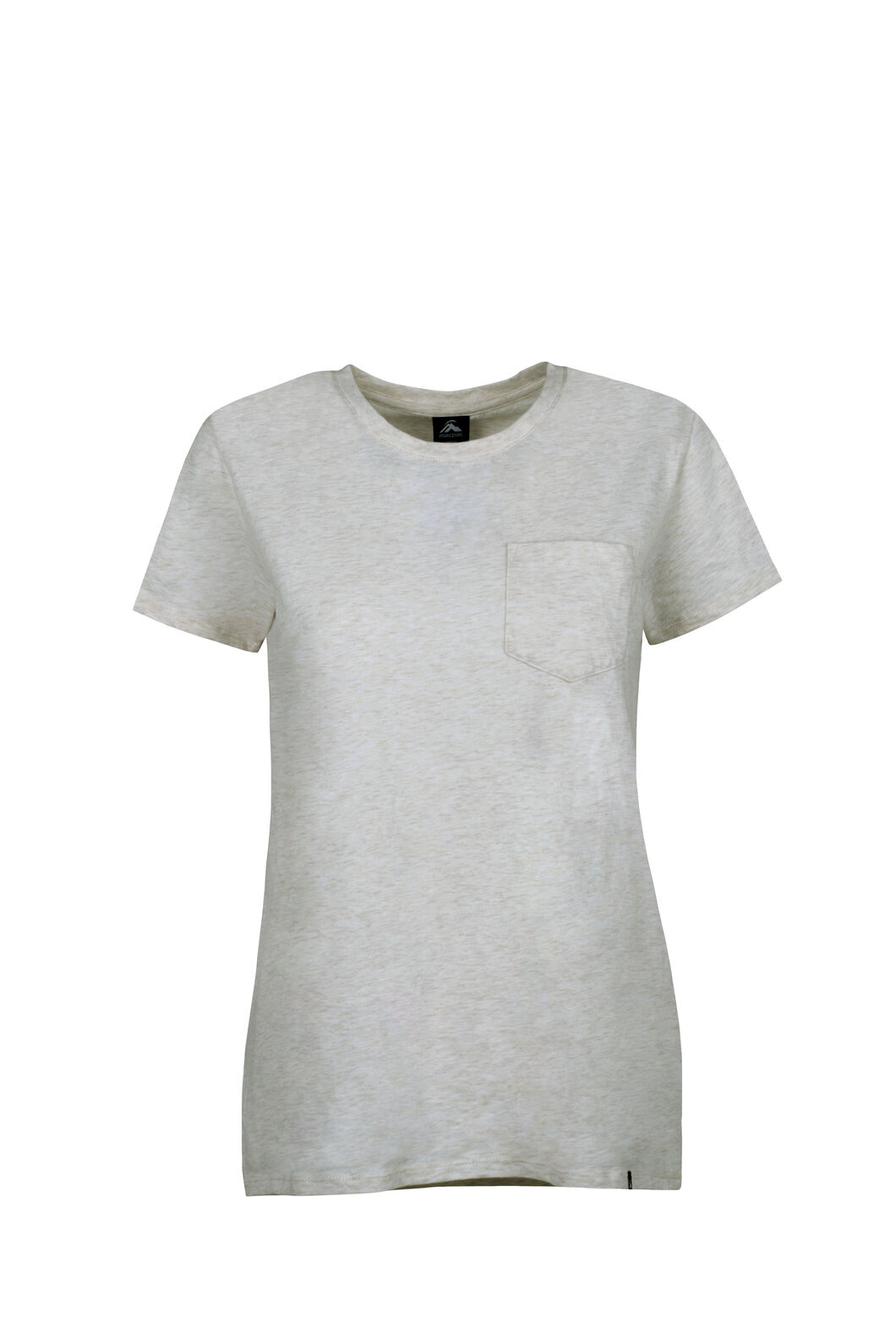 Macpac Pocket Organic Cotton Tee - Women's, Oat Marle, hi-res
