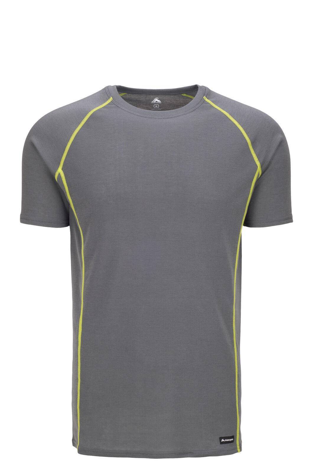 Macpac Geothermal Short Sleeve Top — Men's, Turbulence/Macaw Green, hi-res