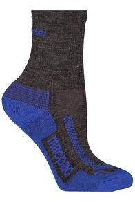 Macpac Trekking Socks Kids', Dark Grey Melange/Mazarine, hi-res