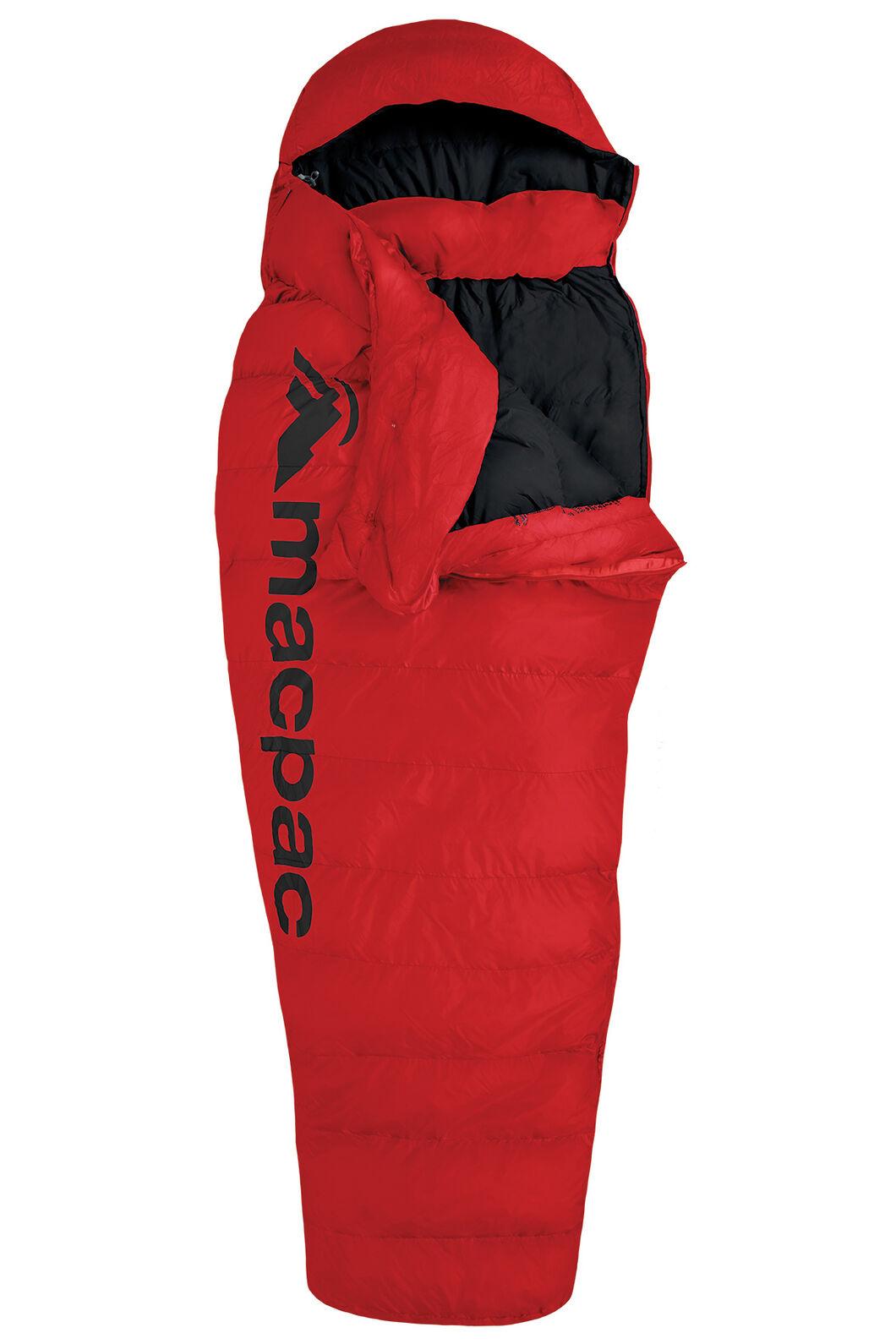 Macpac Overland Down 400 Sleeping Bag — Women's, Flame Scarlet, hi-res