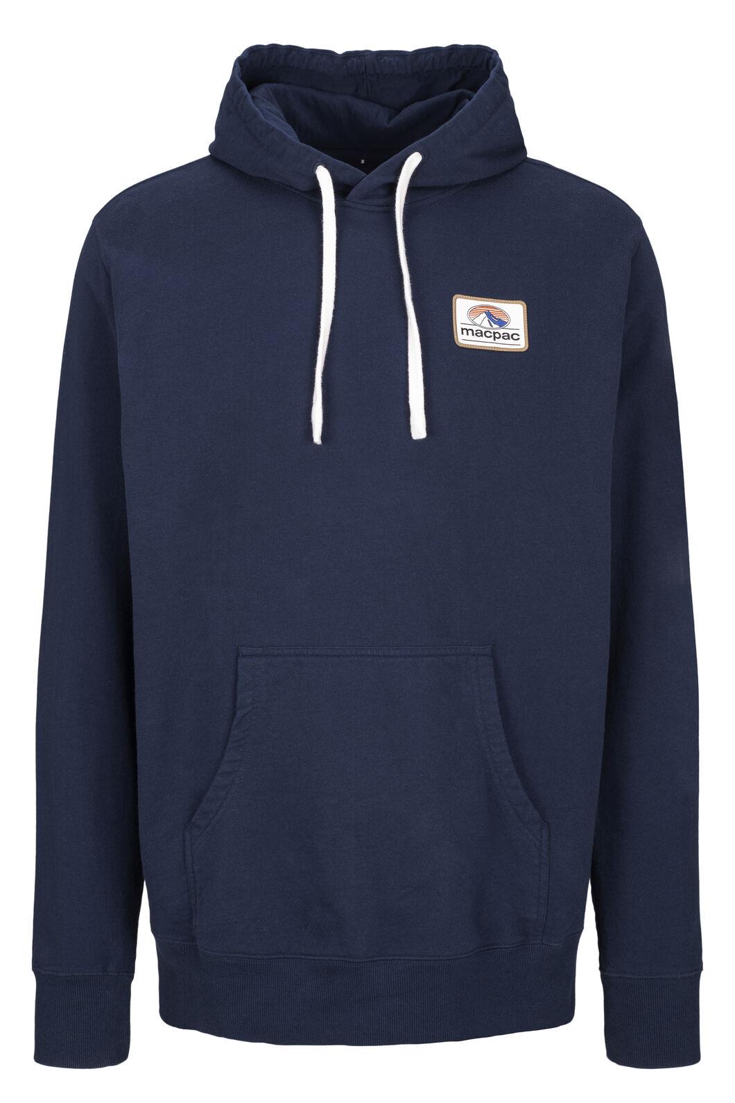 Macpac Organic Cotton Fairtrade Hooded Pullover — Men's, Black Iris Patch, hi-res