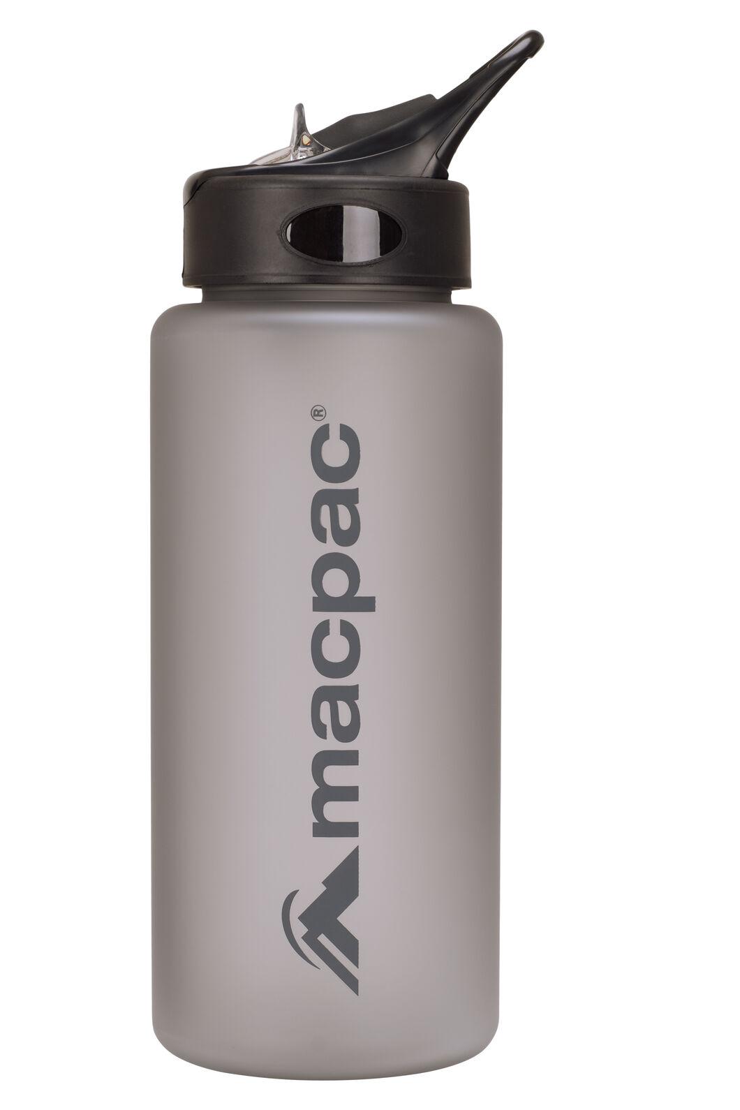 Macpac Flip Top Water Bottle — 850ml, Charcoal, hi-res