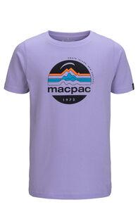 Macpac Kids' Retro Fairtrade Organic Cotton Tee, Lavender, hi-res