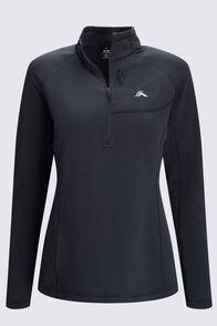 Macpac Women's Ion Polartec® Fleece Half Zip Pullover, Black, hi-res