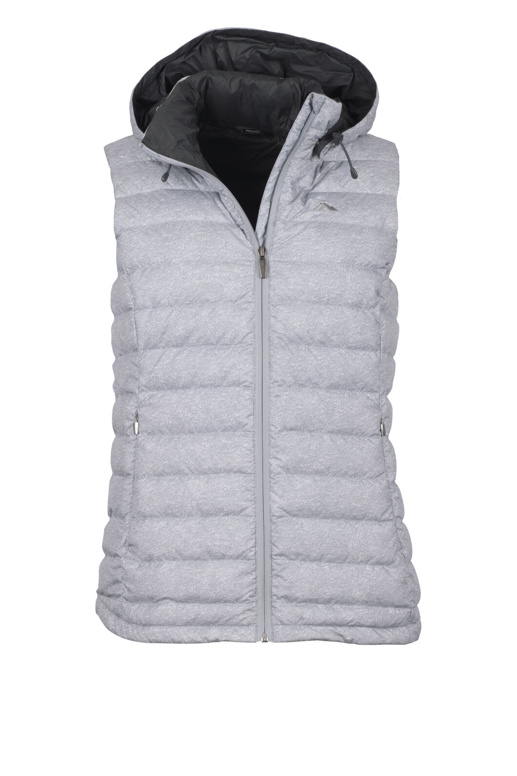Macpac Zodiac Hooded Down Vest - Women's, Alloy Spec Print, hi-res