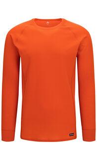 Macpac Men's Geothermal Long Sleeve Top, Orange Flame, hi-res