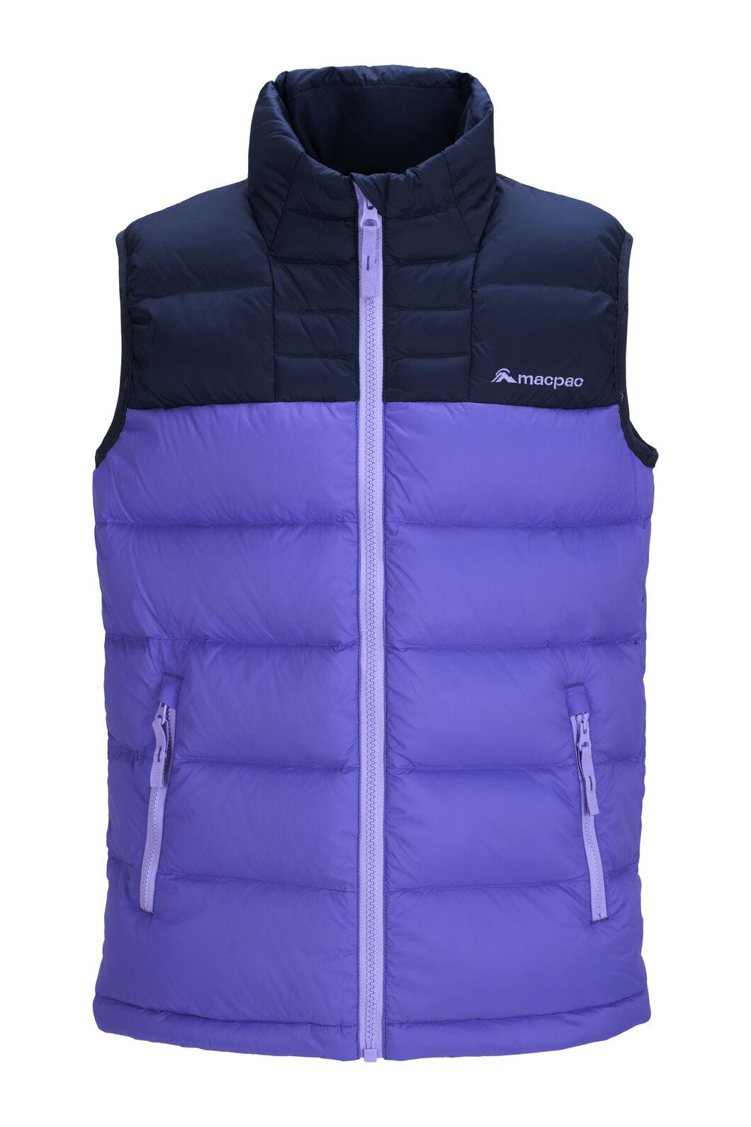 Macpac Atom Down Vest — Kids', Aster Purple, hi-res
